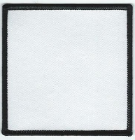 Blank Patch 3.5 x 3.5 White Background With Black Border