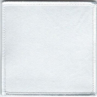 Blank Patch 3.5 x 3.5 White with White Border