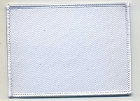 Blank Patch 4x3 White Background with White Border Heat Seal