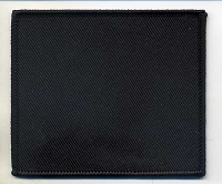 Blank Patch 3x3.5 Black Background with Black Border Heat Seal