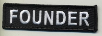 FOUNDER Patch Black with Black Border White Lettering 4