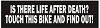 IS THERE LIFE AFTER DEATH? TOUCH THIS BIKE AND FIND OUT Helmet Sticker