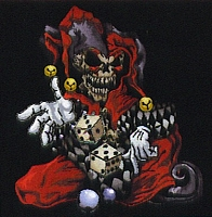SKULL JESTER Patch 5.75X6.25