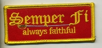 Semper Fi always faithful (USMC) patch 3.5x1.5 with heat seal