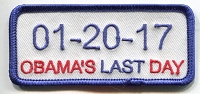 01-20-17 Obama's Last Day patch 3.5x1.5 with heat seal