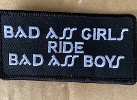 Bad Ass Girls Ride Bad Ass Boys Patch 4x2