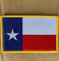 Texas State Flag with Gold Border 3.5x 2.25