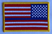 Reverse US Flag with Blue line 2.25x3.5